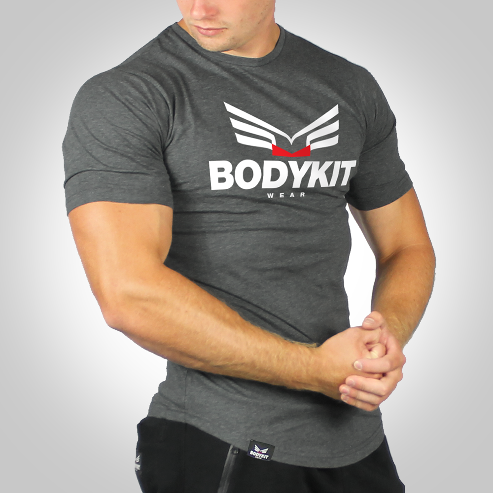 Men's Muscle Fit Logo T-Shirt – Stone Gray
