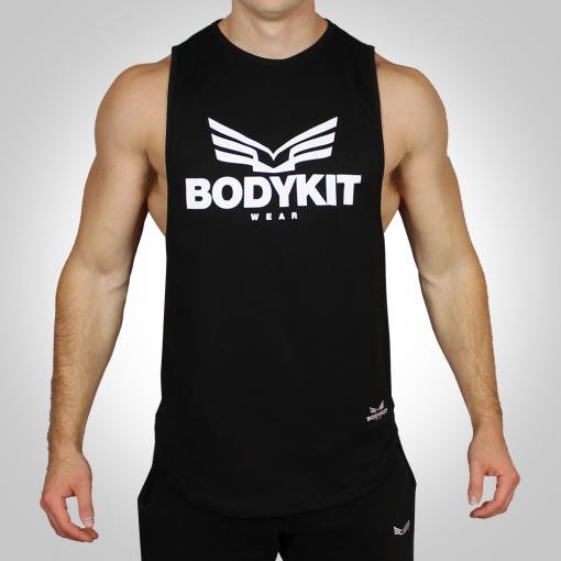 Deep Cut Tank Black by Bodykit Wear