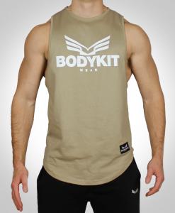 Deep cut tank in tan brown bodykit wear